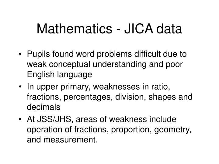 Mathematics - JICA data