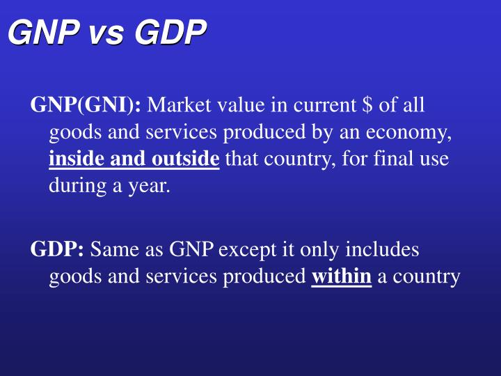 GNP vs GDP