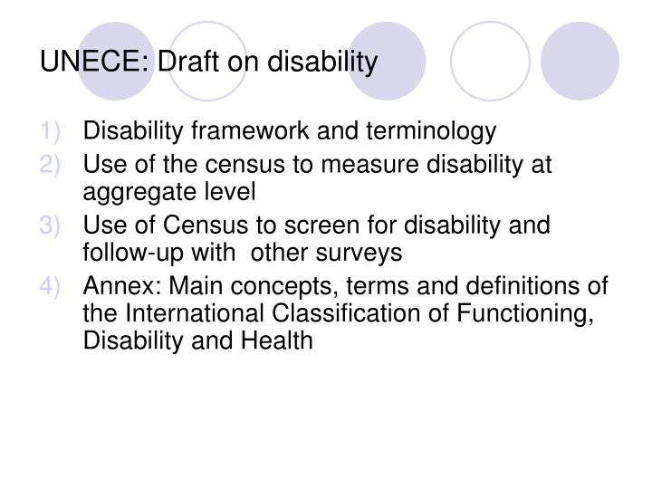 Unece draft on disability