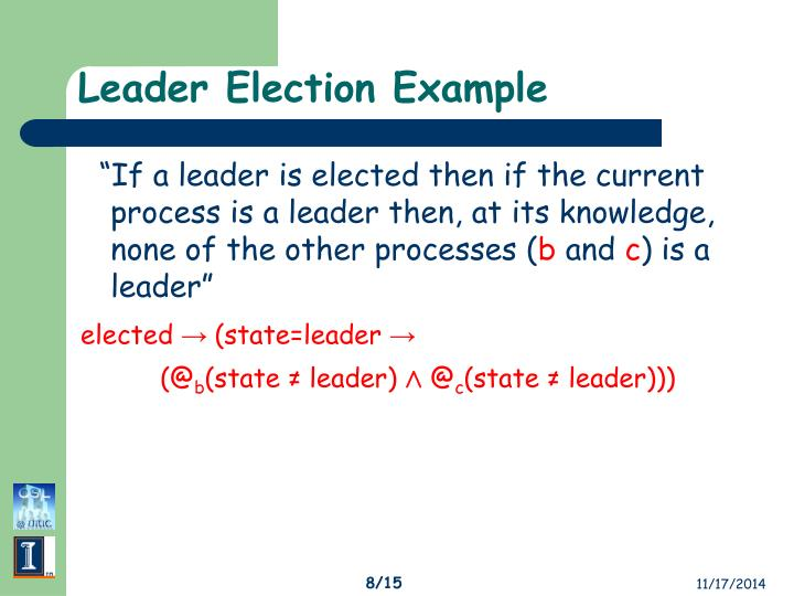 Leader Election Example