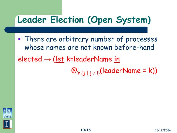 Leader Election (Open System)