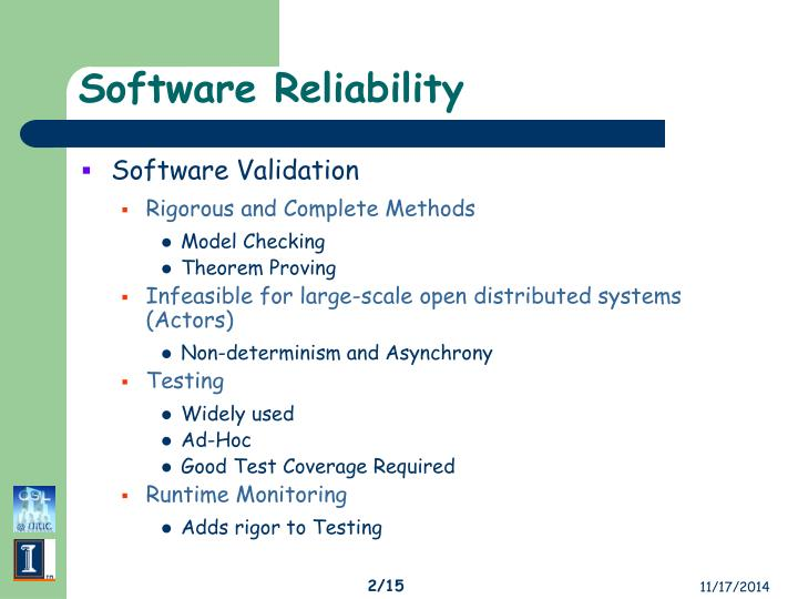 Software reliability