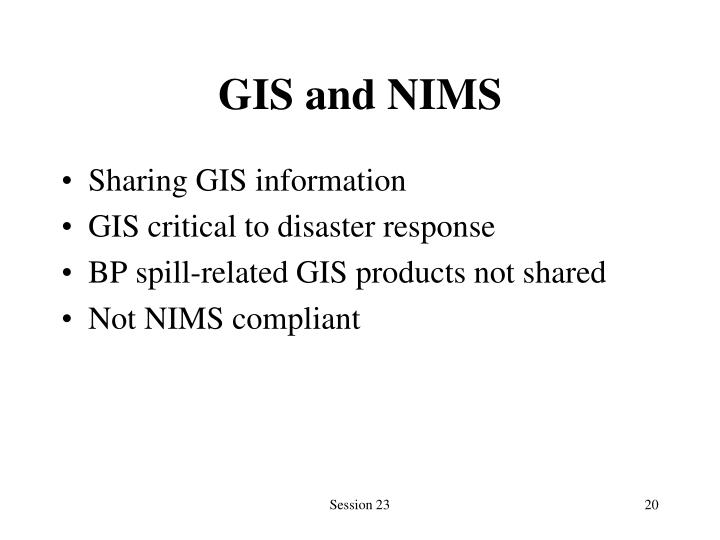 GIS and NIMS