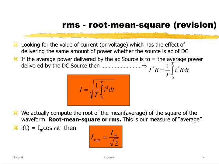 rms - root-mean-square (revision)