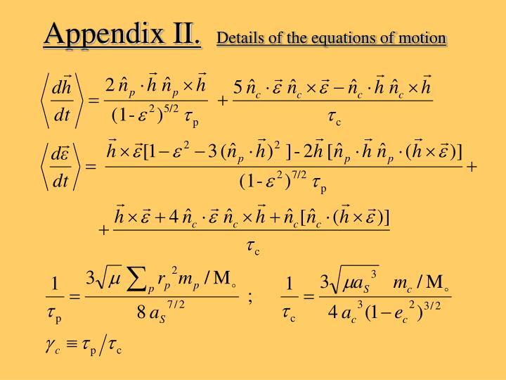 Appendix II.