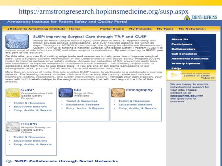 https://armstrongresearch.hopkinsmedicine.org/susp.aspx