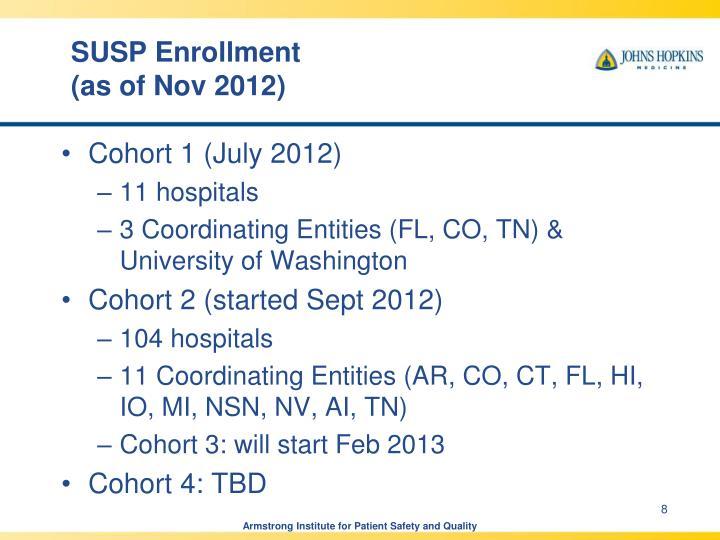 SUSP Enrollment
