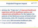 projected program impact