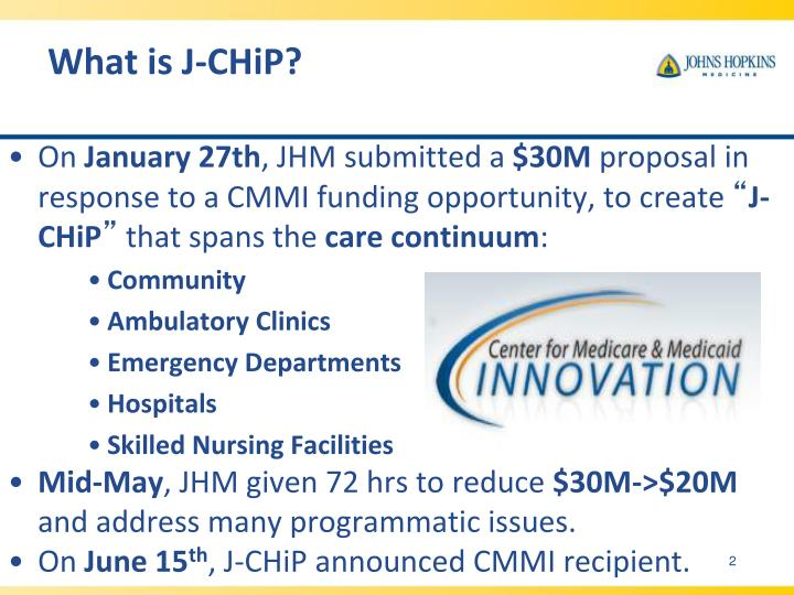 What is J-CHiP?