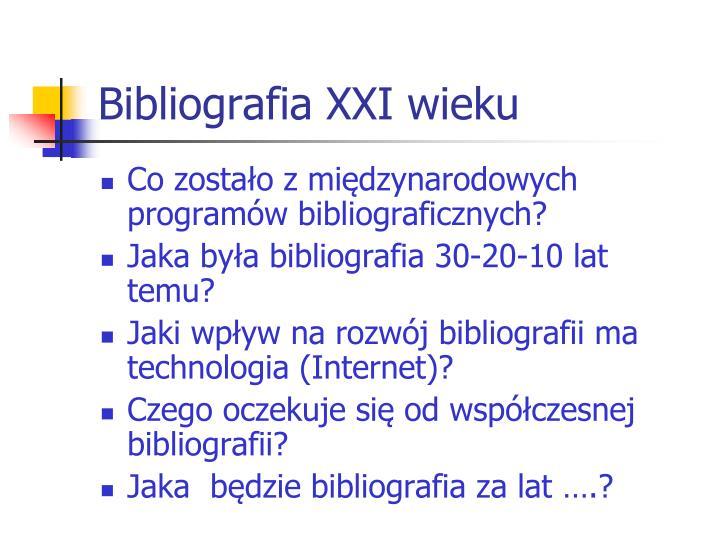 Bibliografia XXI wieku