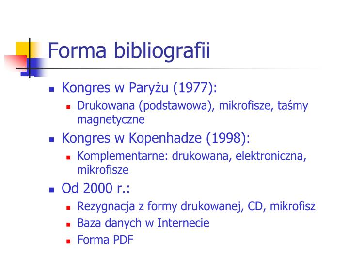 Forma bibliografii