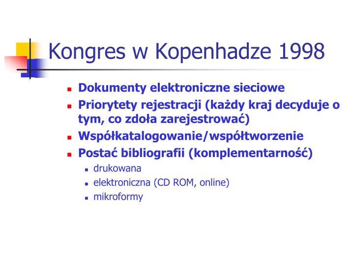 Kongres w Kopenhadze 1998