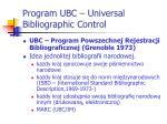 program ubc universal bibliographic control