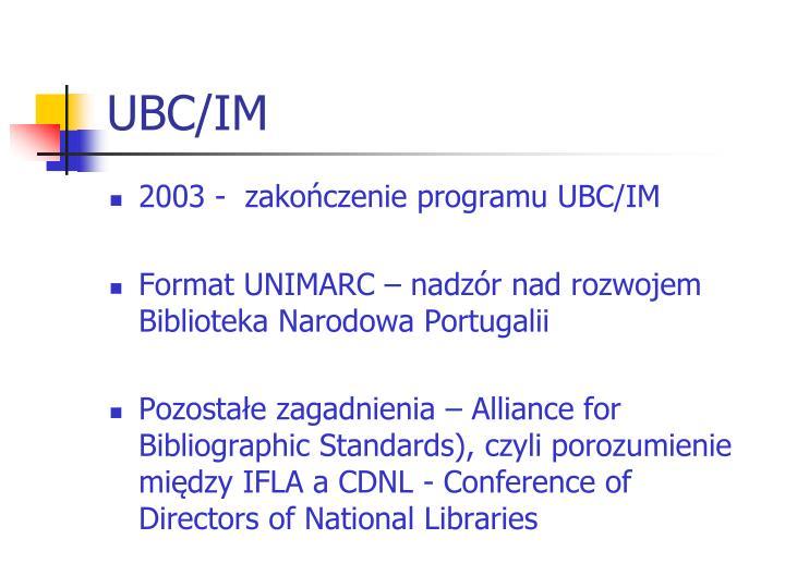 UBC/IM