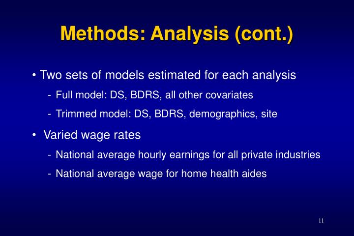 Methods: Analysis (cont.)