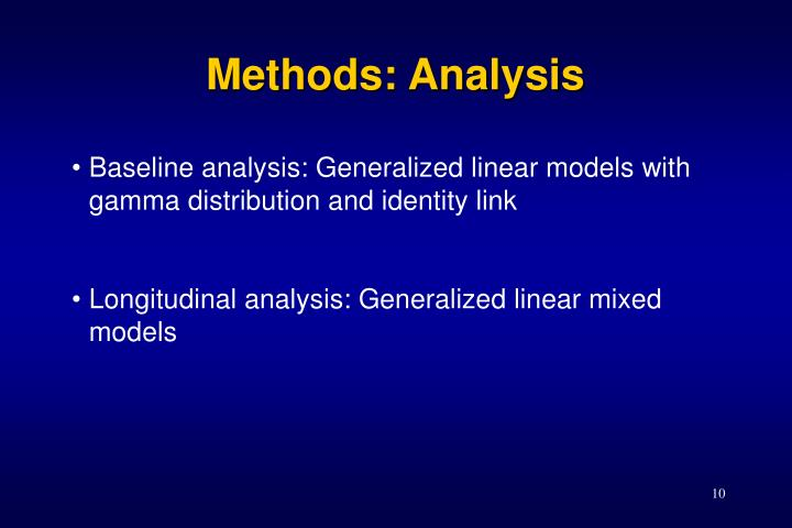 Methods: Analysis