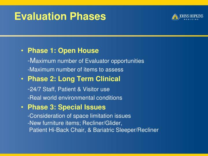 Evaluation Phases