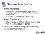 genome annotations