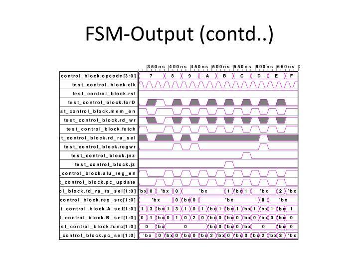 FSM-Output (contd..)