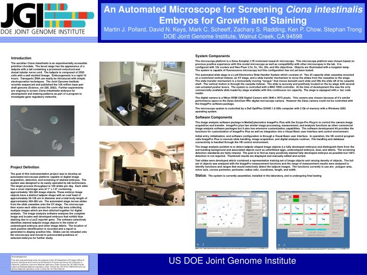An Automated Microscope for Screening