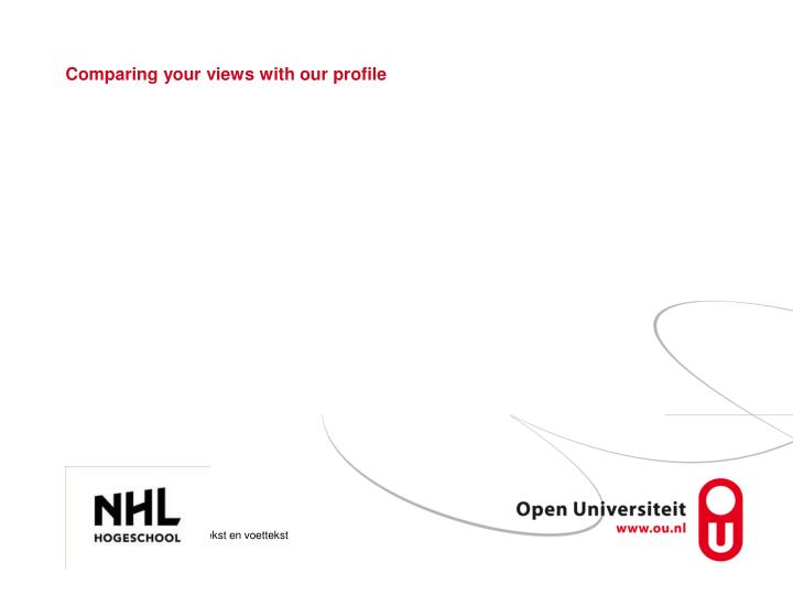 Comparing your views with our profile