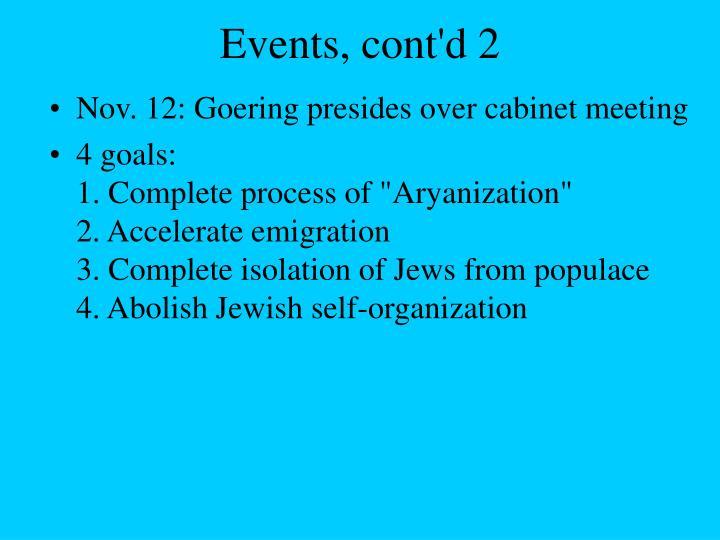 Events, cont'd 2