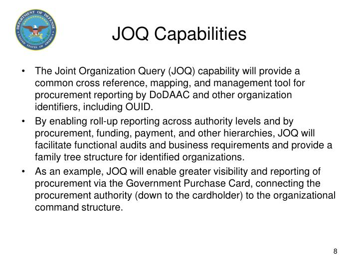 JOQ Capabilities