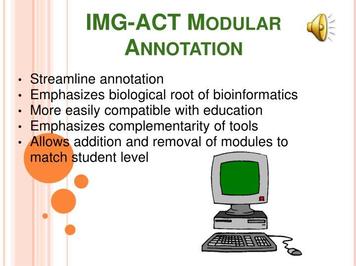IMG-ACT Modular Annotation
