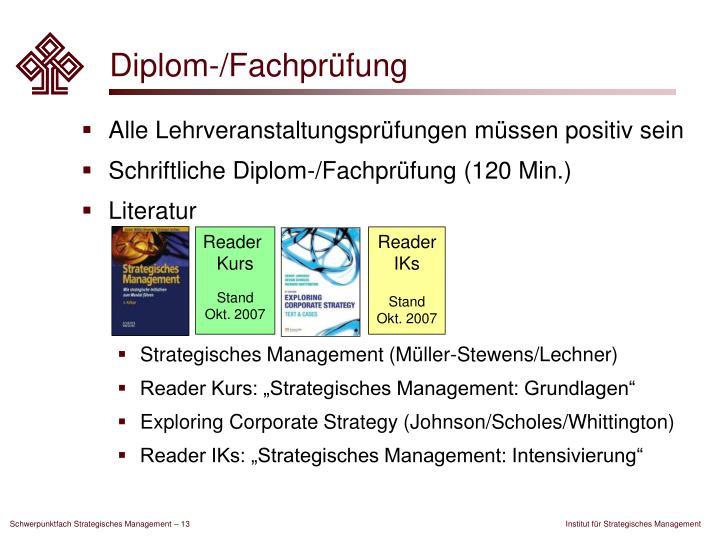 Diplom-/Fachprüfung