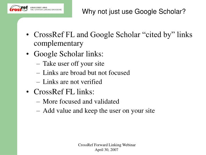Why not just use Google Scholar?