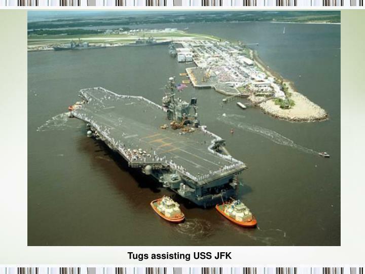 Tugs assisting USS JFK