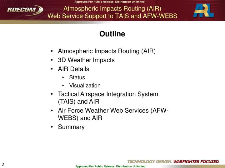 Atmospheric Impacts Routing (AIR)