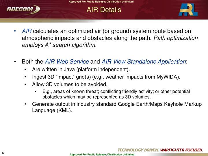 AIR Details