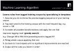 machine learning algorithm