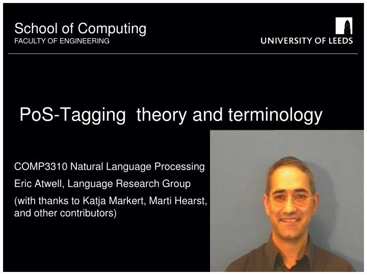Pos tagging theory and terminology