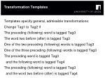 transformation templates