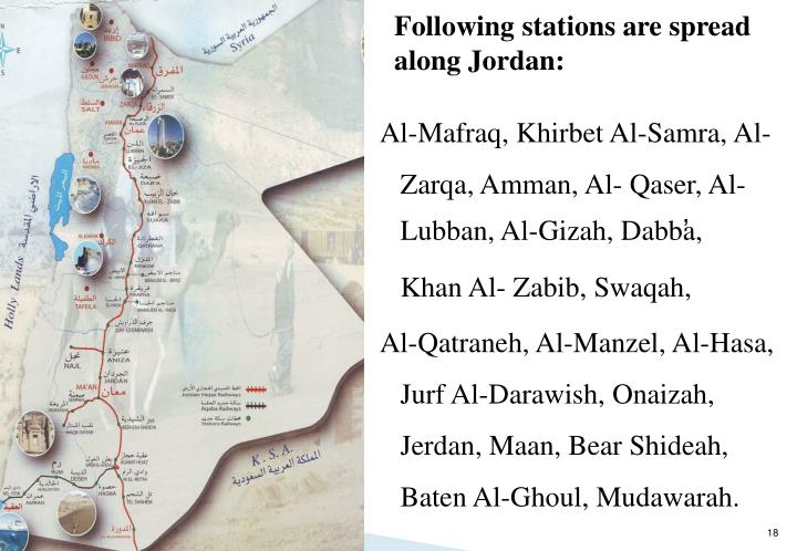 Following stations are spread