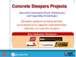 concrete sleepers projects