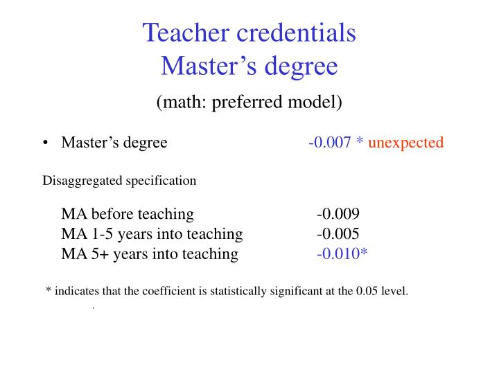 Teacher credentials