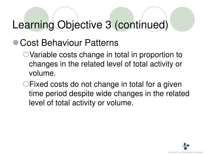 Learning Objective 3 (continued)