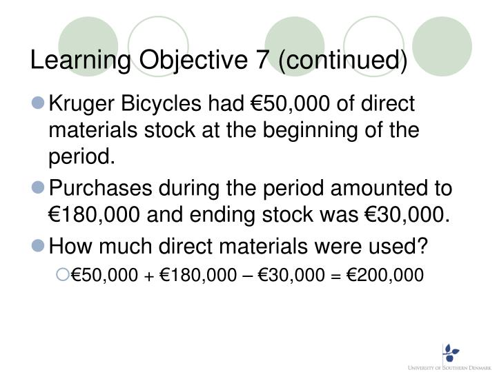 Learning Objective 7 (continued)