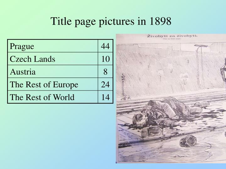 Title page pictures in 1898