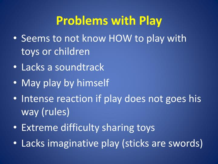 Problems with Play