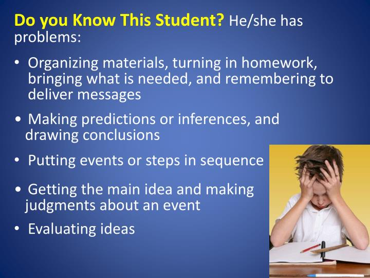 Do you Know This Student?