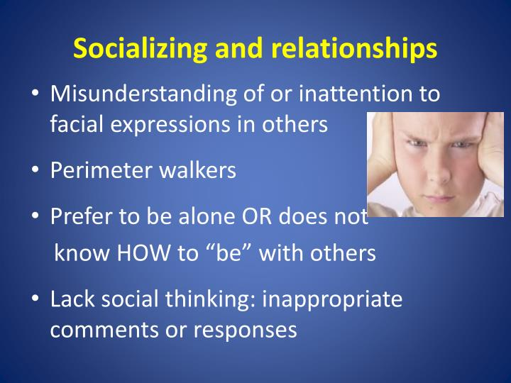 Socializing and relationships
