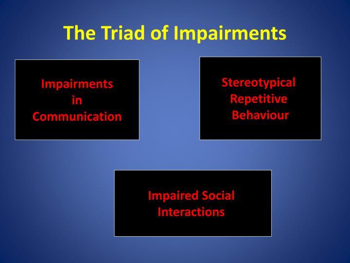The Triad of Impairments