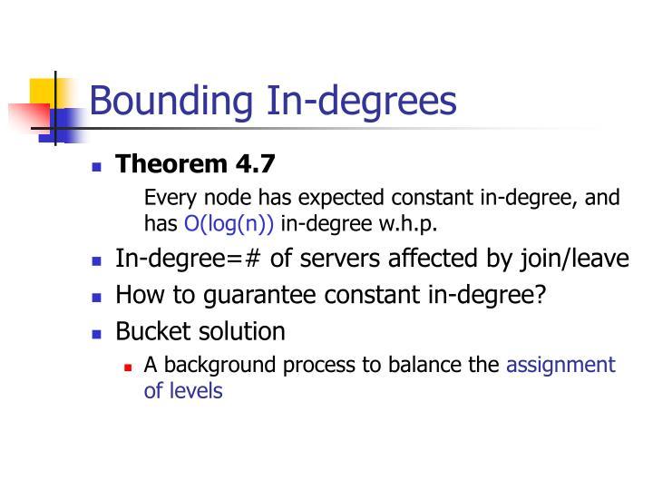 Bounding In-degrees