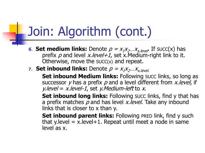 Join: Algorithm (cont.)