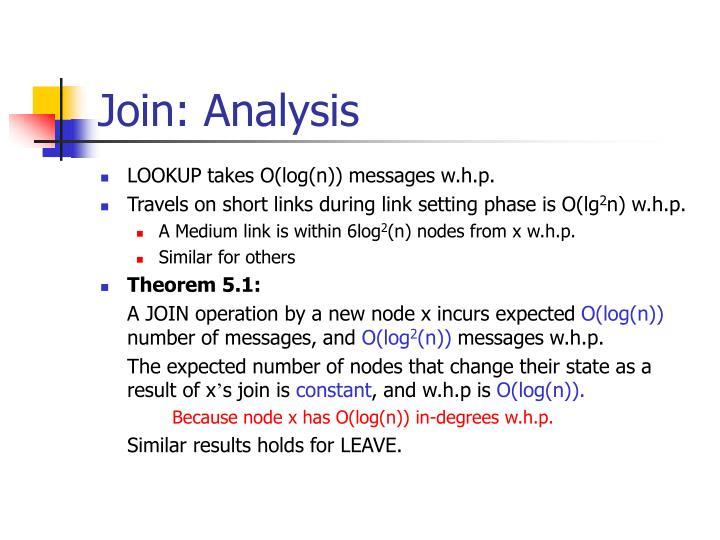 Join: Analysis
