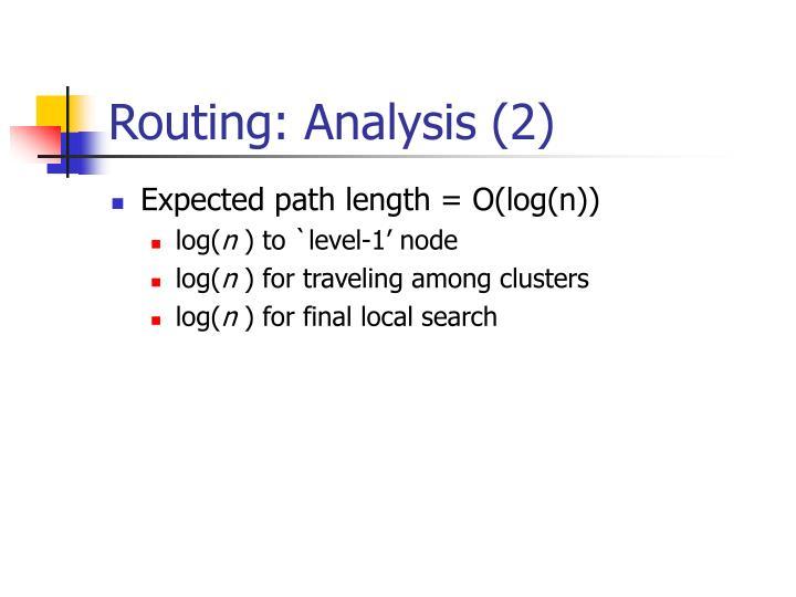 Routing: Analysis (2)